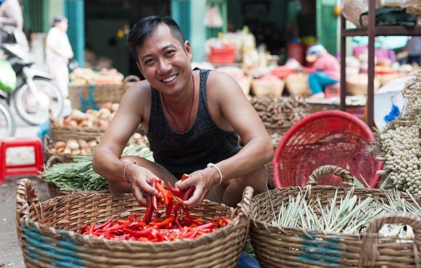 المحيط الهادئ - سوق ميناء المدينة: سوق شعبي في جمهورية فانواتو