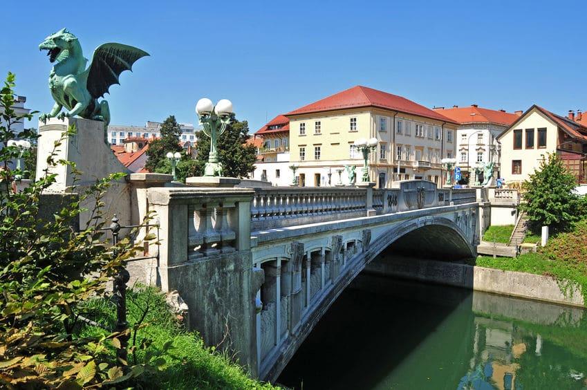 سلوفينيا - جسر التنين في ليوبليانا