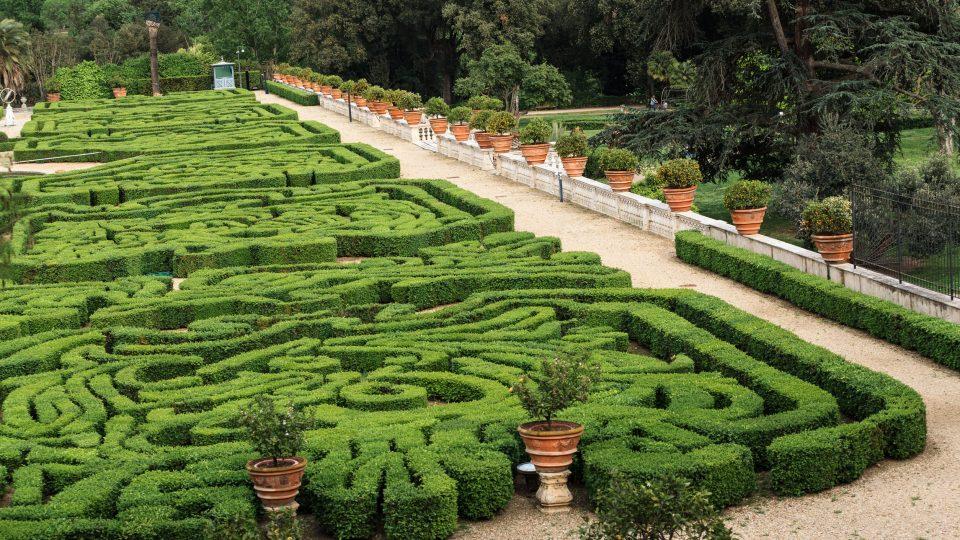 روما - فيلا دوريا بامبيلي Villa Doria Pamphili
